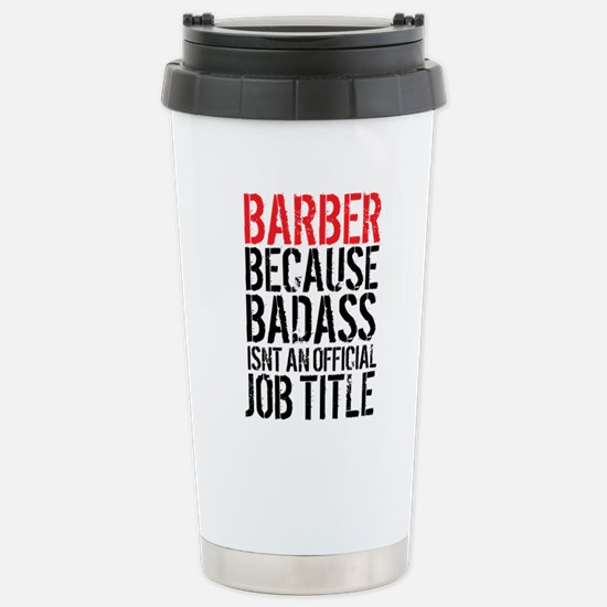 Badass Barber Stainless Steel Travel Mug