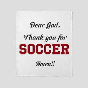 Thank God for Soccer Throw Blanket