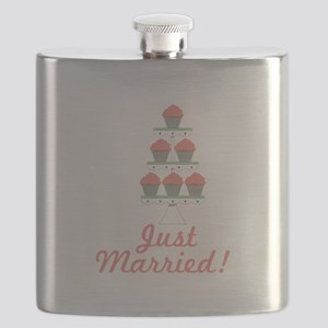 Just Married Cupcakes Flask