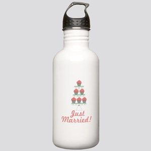 Just Married Cupcakes Water Bottle