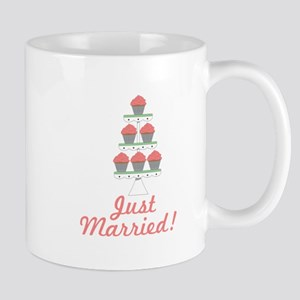 Just Married Cupcakes Mugs