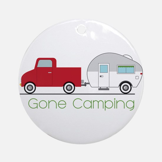 Gone Camping Round Ornament