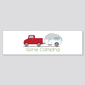 Gone Camping Bumper Sticker