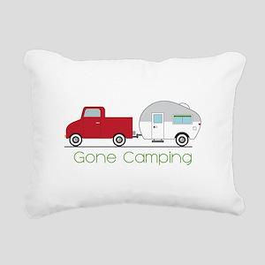 Gone Camping Rectangular Canvas Pillow