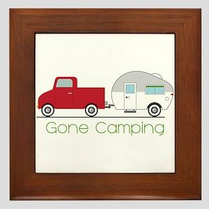 Gone Camping Framed Tile