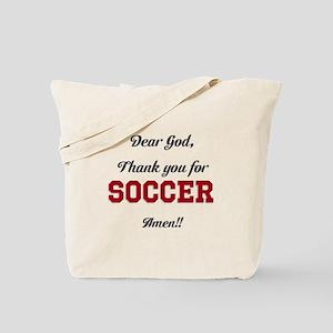 Thank God for Soccer Tote Bag