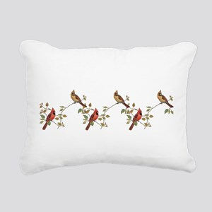 cardinal couple Rectangular Canvas Pillow