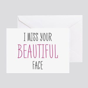 Apology greeting cards cafepress i miss your beautiful face greeting cards m4hsunfo