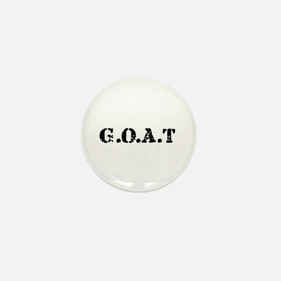 G.O.A.T - greatest of all tim Mini Button
