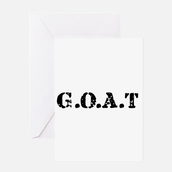 G.O.A.T - greatest of all tim Greeting Card