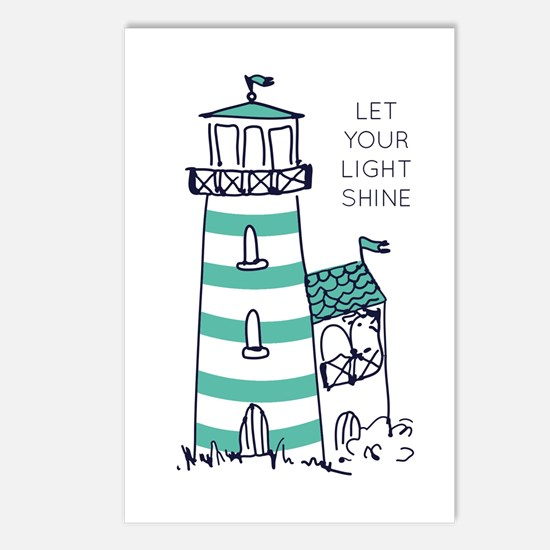 Let Your Light Shine Postcards (Package of 8)