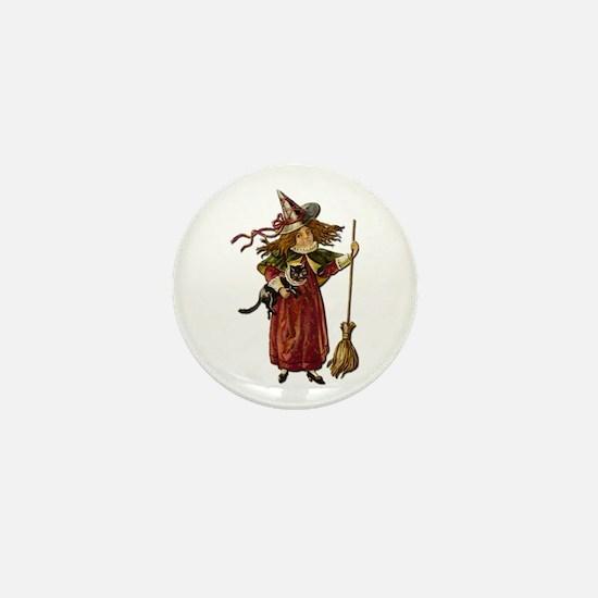 Vintage Witch Mini Button