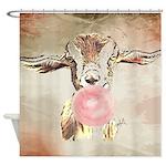 Cute Bubblegum Goat Shower Curtain
