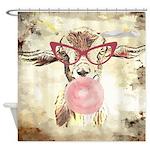 Geeky Bubblegum Goat Shower Curtain
