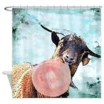 Billy Goat Bubblegum Shower Curtain