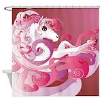 Pink Fantasy Horse Shower Curtain