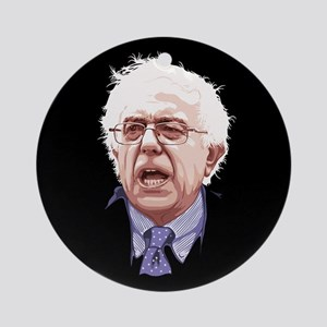 Bernie Portrait 10-'15 Round Ornament