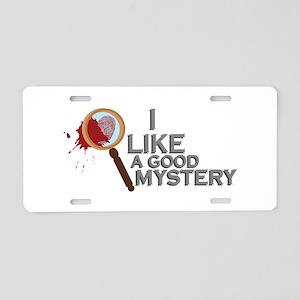 A Good Mystery Aluminum License Plate