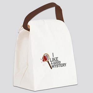 A Good Mystery Canvas Lunch Bag