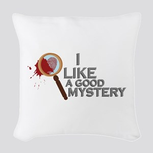 A Good Mystery Woven Throw Pillow
