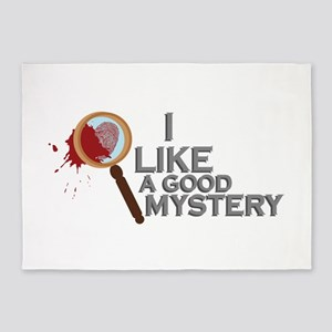 A Good Mystery 5'x7'Area Rug
