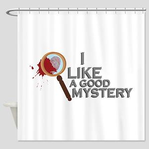 A Good Mystery Shower Curtain
