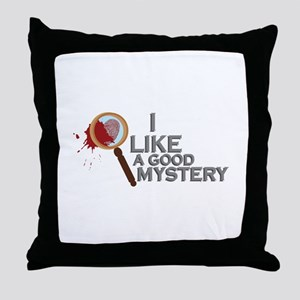 A Good Mystery Throw Pillow