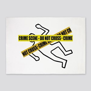 Crime Scene Tape 5'x7'Area Rug