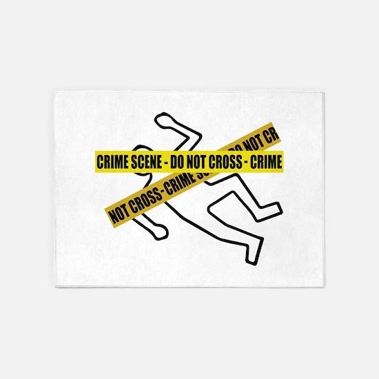 Crime Scene Tape 5'x7'Area Rug