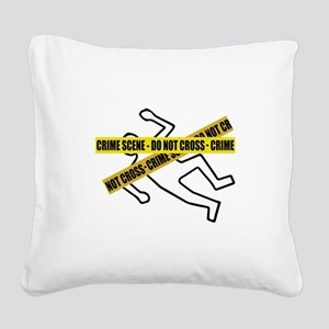 Crime Scene Tape Square Canvas Pillow
