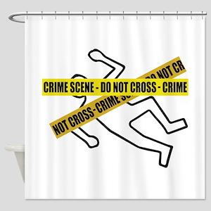 Crime Scene Tape Shower Curtain