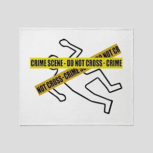 Crime Scene Tape Throw Blanket