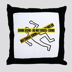 Crime Scene Tape Throw Pillow