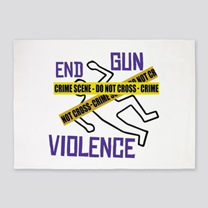 End Gun Violence 5'x7'Area Rug