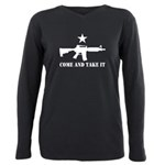 Come and Take It Plus Size Long Sleeve Tee