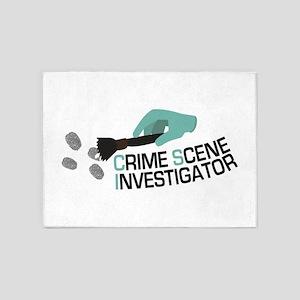 Crime Scene Investigator 5'x7'Area Rug