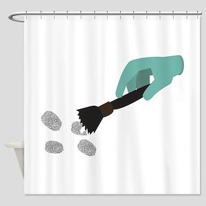 Fingerprint Brush Shower Curtain
