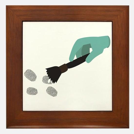 Fingerprint Brush Framed Tile