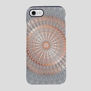 Rose Gold Gray Mandala iPhone 8/7 Tough Case
