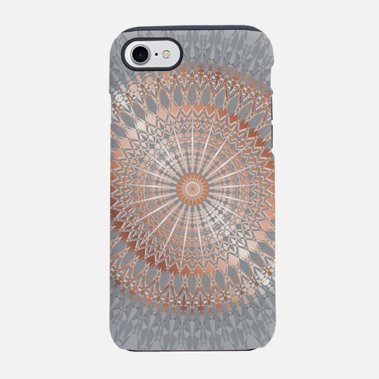 Rose Gold Gray Mandala iPhone 8/7 Tough Case