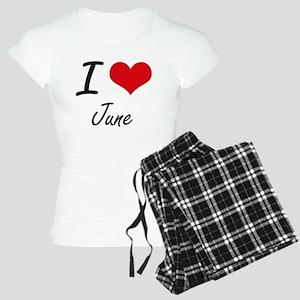 I Love June Women's Light Pajamas