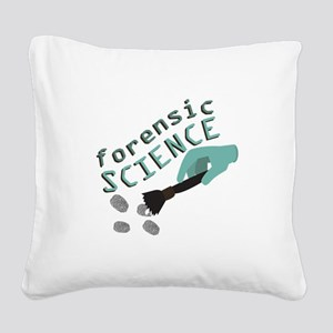 Forensic Science Square Canvas Pillow
