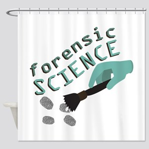 Forensic Science Shower Curtain
