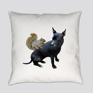 Squirrel on Dog Everyday Pillow