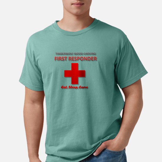 Timberwolf Wood Carving First Responder T-Shirt