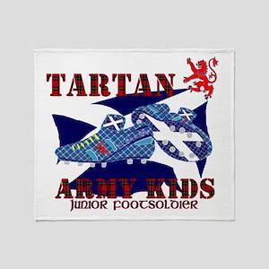 Tartan Army Kids Football Throw Blanket
