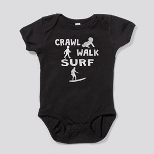Crawl Walk Surf Baby Bodysuit