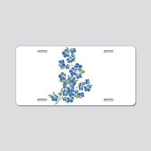 Forget me nots Aluminum License Plate