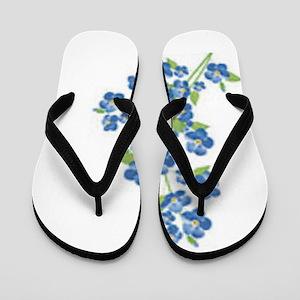 Forget me nots Flip Flops