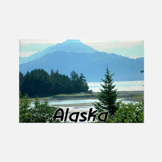 Alaska the Great Land Rectangle Magnet